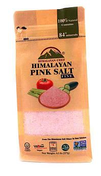 Соль розовая гималайская Мелкий Помол Himalayan Chef