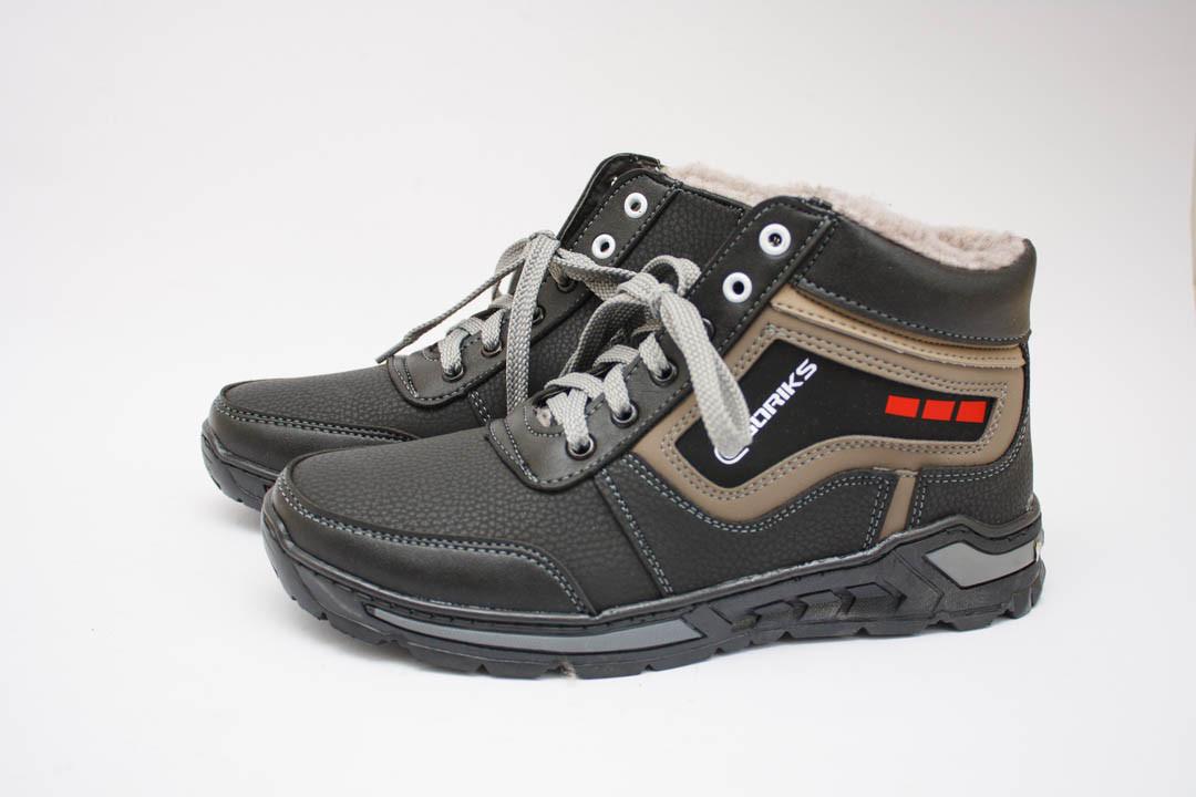 Мужские ботинки (Код: Б-21 черн-оливка )
