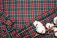 Ткань костюмная плательная клетка, натуральные волокна, слабый стрейч (5%эластана) №331