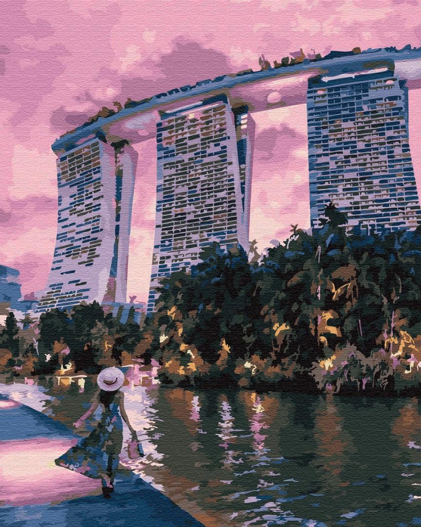 Рисование по номерам Вечер в Сингапуре PGX29745 Brushme Premium 40 х 50 см