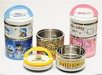 Термос для еды детский, 750 мл (2 отделения). Ланч-бокс для еды, Термобокс пищевой.