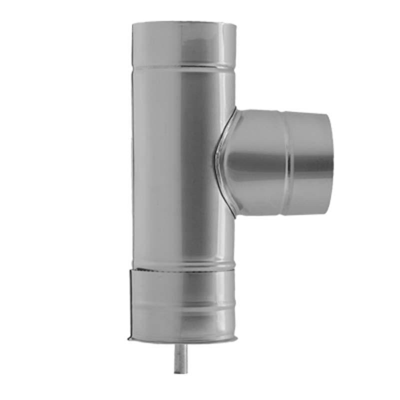 AISI 304 Тройник 90° s0,5 мм d200 мм