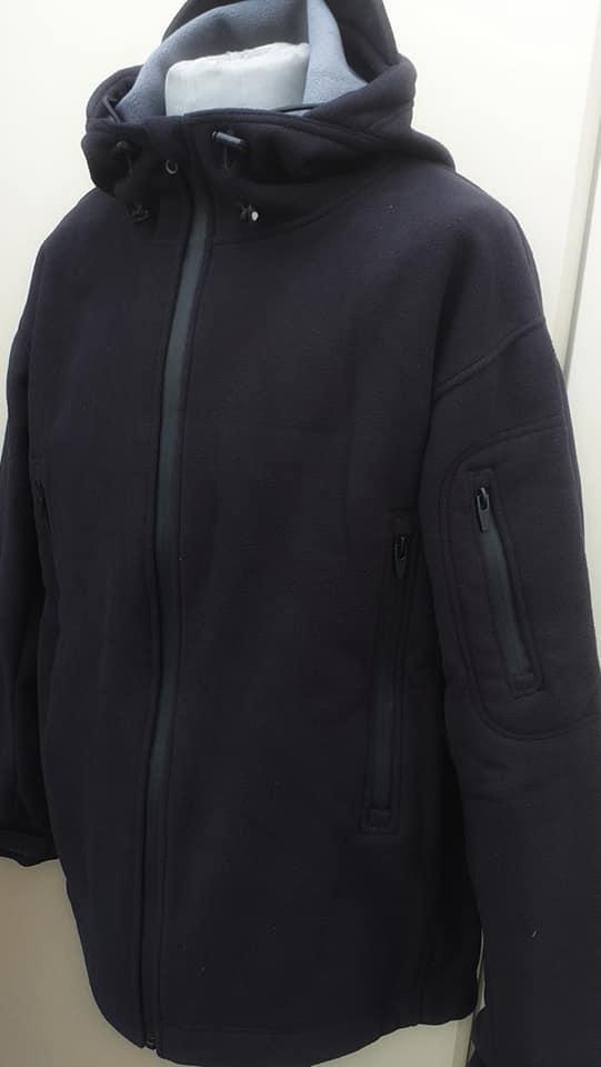 📣Куртки с капюшоном на мембране Waterproof Fleece черные