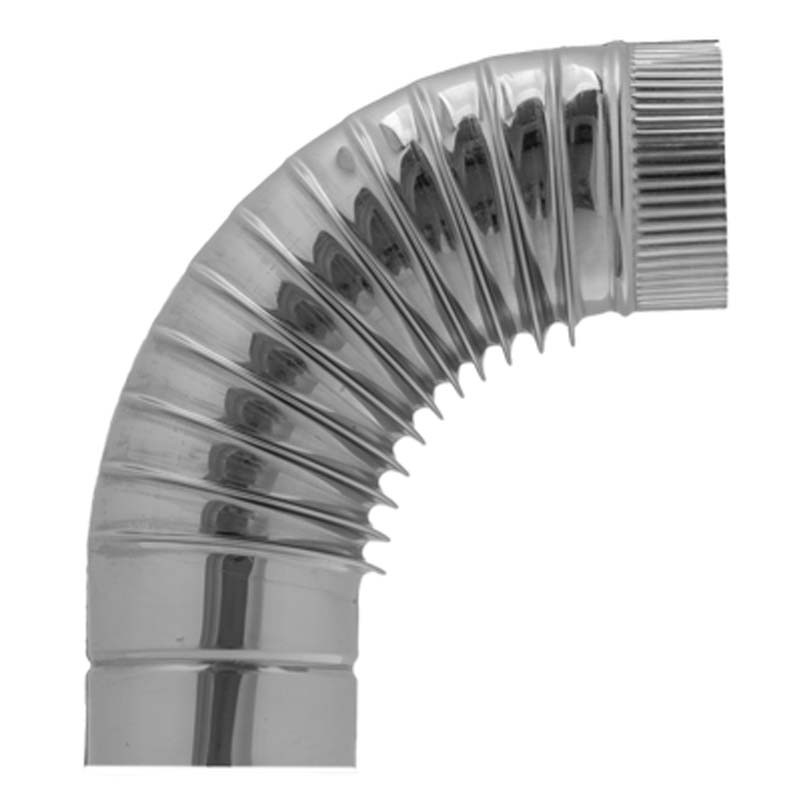 AISI 430 Отвод 90° s0,5 мм d200 мм гофр.
