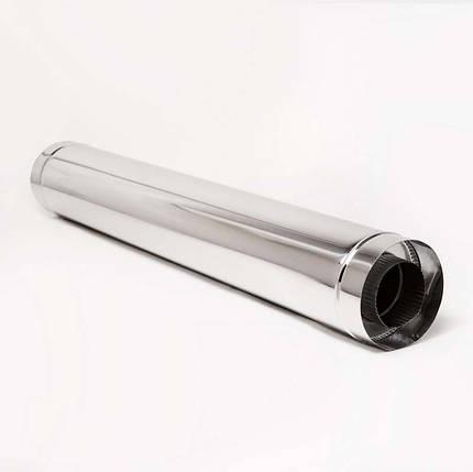Н/Н Труба двуст. (АISI 304/430) L1 м d110*180 мм термо, фото 2