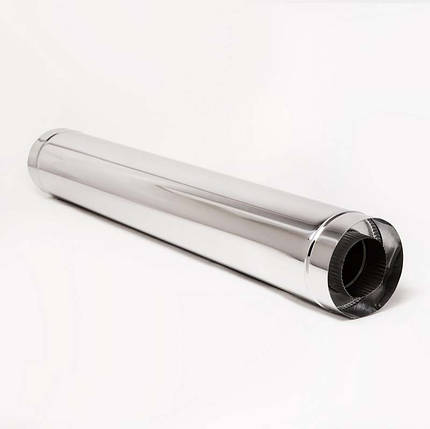 Н/Н Труба двуст. (АISI 304/430) L1 м d140*200 мм термо, фото 2