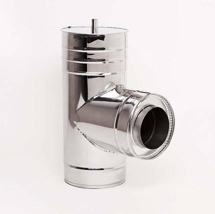 Н/Н Тройник 90° двуст. (АISI 304/430) d110/180 мм, фото 2