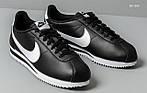 Мужские кроссовки Nike Cortez (черно-белые), фото 3