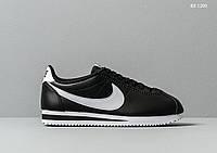 Мужские кроссовки Nike Cortez (черно-белые)