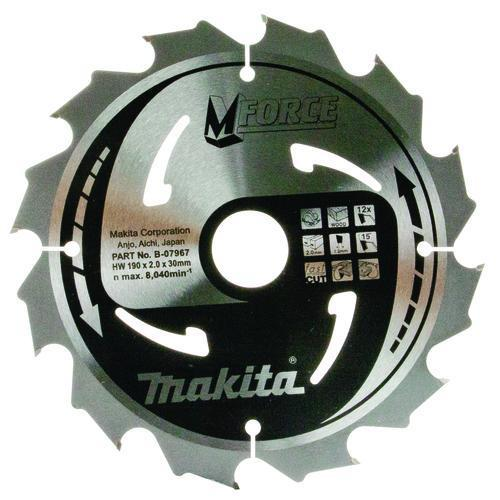Пильный диск Makita MForce 190 мм 12 зубьев (B-07967)