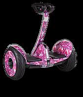 """Мини Сигвей Mini Robot колеса 10.5"""" Bluetooth розовый космос"""