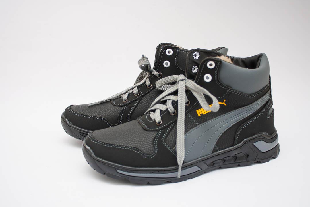 Мужские ботинки (Код: Б-23 черн-сер )
