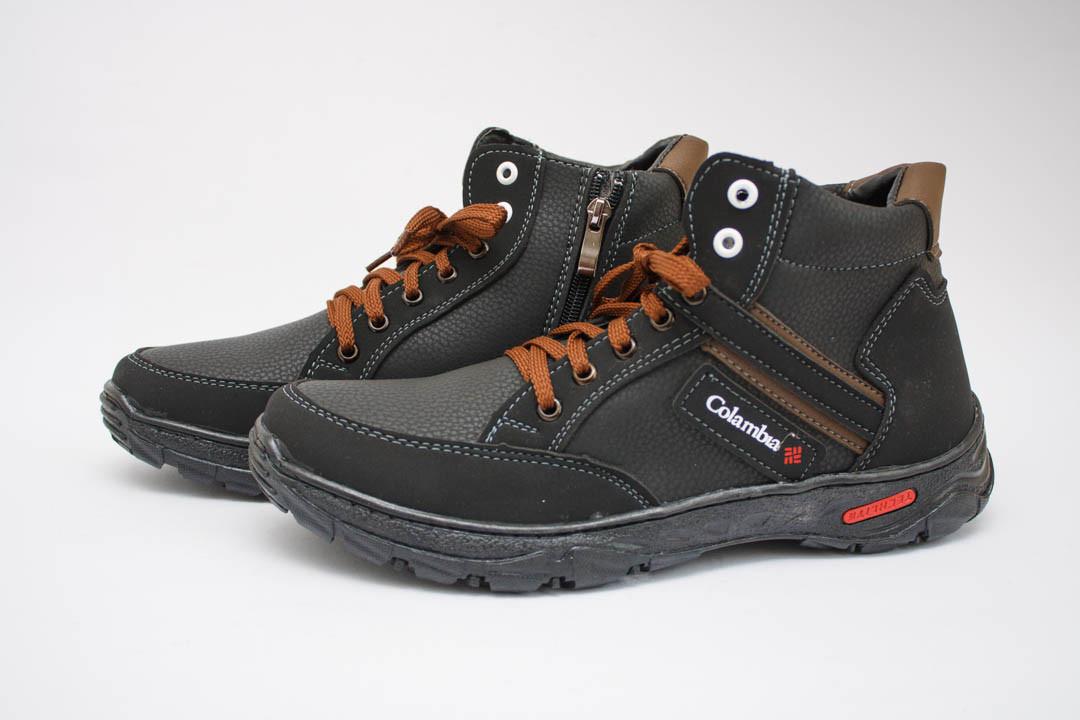 Мужские ботинки (Код: Б-24 черн-коричн )