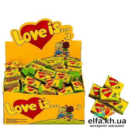 Жуйка Love is Кокос-ананас 50 шт, фото 2