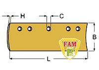 Нож ковша (режущая кромка) 1828х203х16 мм Caterpillar 9J7701