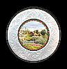 """Тарілка полікерамічна діаметром 18 см """"Україна"""" Хутір з яблуневим цвітом"""""""