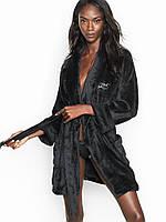 Женский черный халат Victoria s Secret (Виктория Сикрет США) оригинал HL2