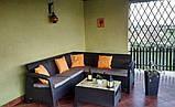Allibert Corfu Relax Set садовая мебель из искусственного ротанга ( Corfu Relax ), фото 3