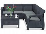 Allibert Corfu Relax Set садовая мебель из искусственного ротанга ( Corfu Relax ), фото 7