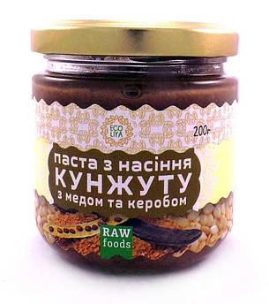 Паста кунжутная с кэробом и мёдом Эколия 200 г