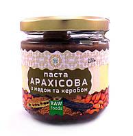 Арахисовая паста с кэробом и медом Эколия 200 г