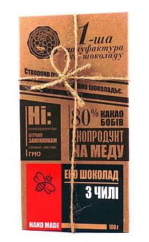 Шоколад черный с чили, Первая мануфактура эко шоколада 100 г