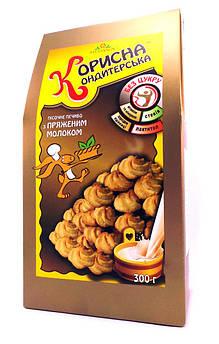 Печенье Корисна кондитерська топленое молоком Стевиясан 300 г