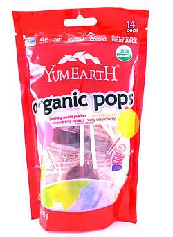 Леденцы органические клубника гранат YumEarth 14 шт