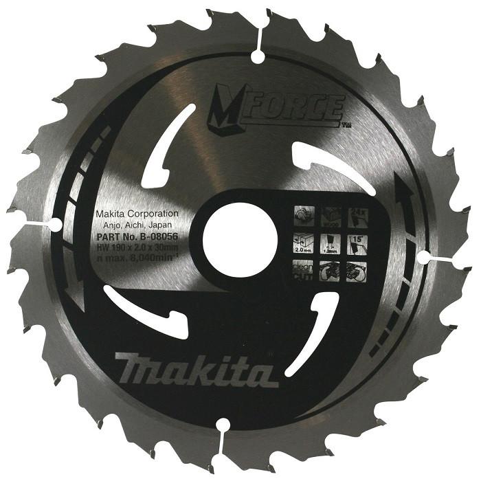 Пильный диск Makita MForce 190 мм 24 зуба (B-08056)