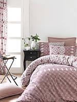 Постельное белье Lighthouse ранфорс Alize розовое Двуспальный евро комплект