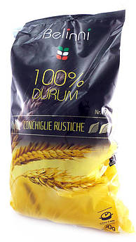 Макарони Черепашки з твердих сортів пшениці Belinni 500 г