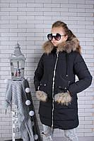 Куртка зимова чорна HL4-2 (р.140-164)
