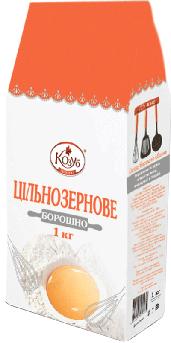 Борошно цільнозернові пшеничне Козуб 1 кг