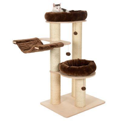 Когтеточка для котов Eco Premium L с двумя лежанками и гамаком