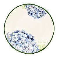 Набор десертных тарелок Villa Grazia Premium Голубая Гортензия 23 см, 6 шт HISAP23I-set