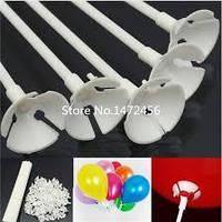 Палочки держатели для шаров белые 35 см