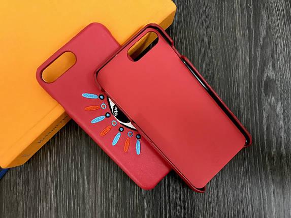 Плаcтиковый чехол для iPhone 7 Plus / 8 Plus Красный с глазом, кожа, фото 2