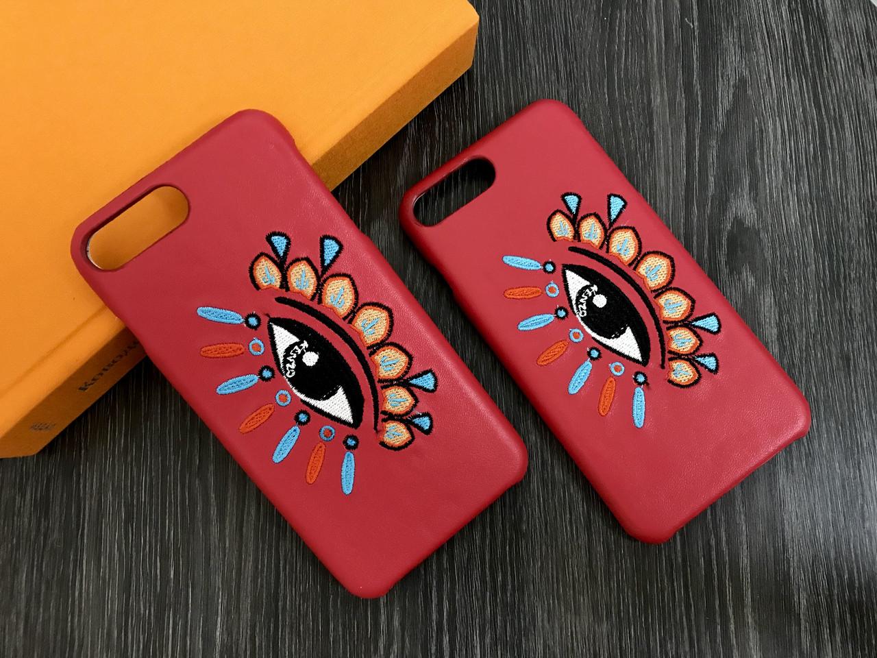 Плаcтиковый чехол для iPhone 7 Plus / 8 Plus Красный с глазом, кожа