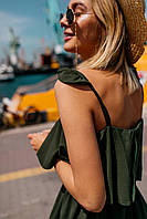 Воздушное летнее платье (цвет - хаки, ткань - софт) Размер S, M, L (розница и опт)