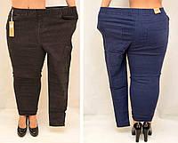 Женские Джеггинсы брюки Джинсы утеплённые флисовой подкладкой ЗИМА черные/синие 60% хлопок 5XL,6XL,7XL