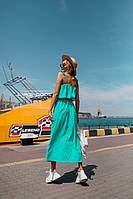 Летнее воздушное платье (цвет - мята, ткань - софт) Размер S, M, L (розница и опт)