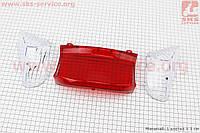 "Пластик - ""стекло""- стопа и поворотов задних к-кт 3шт на скутер Wind (Viper)"