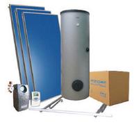 """Система для нагрева воды с плоским коллектором Hewalex """"Эконом-комплект"""""""