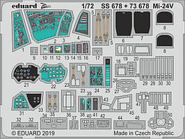 Набор фототравления для Ми-24В. 1/72 EDUARD 73678