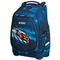 Рюкзак Herlitz Bliss Super Raser Машинка синий ортопедический для младшей школы без наполнения 50008100