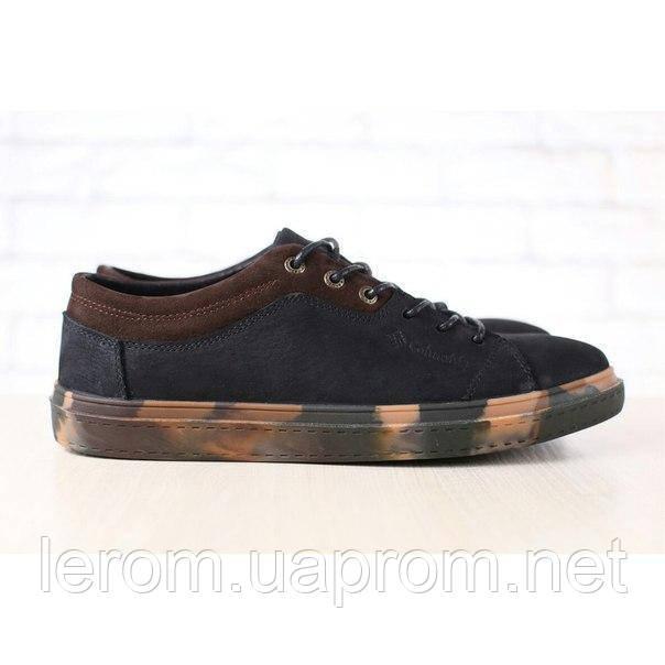 Мужские спортивные туфли, демисезонные, из натурального нубука, черные