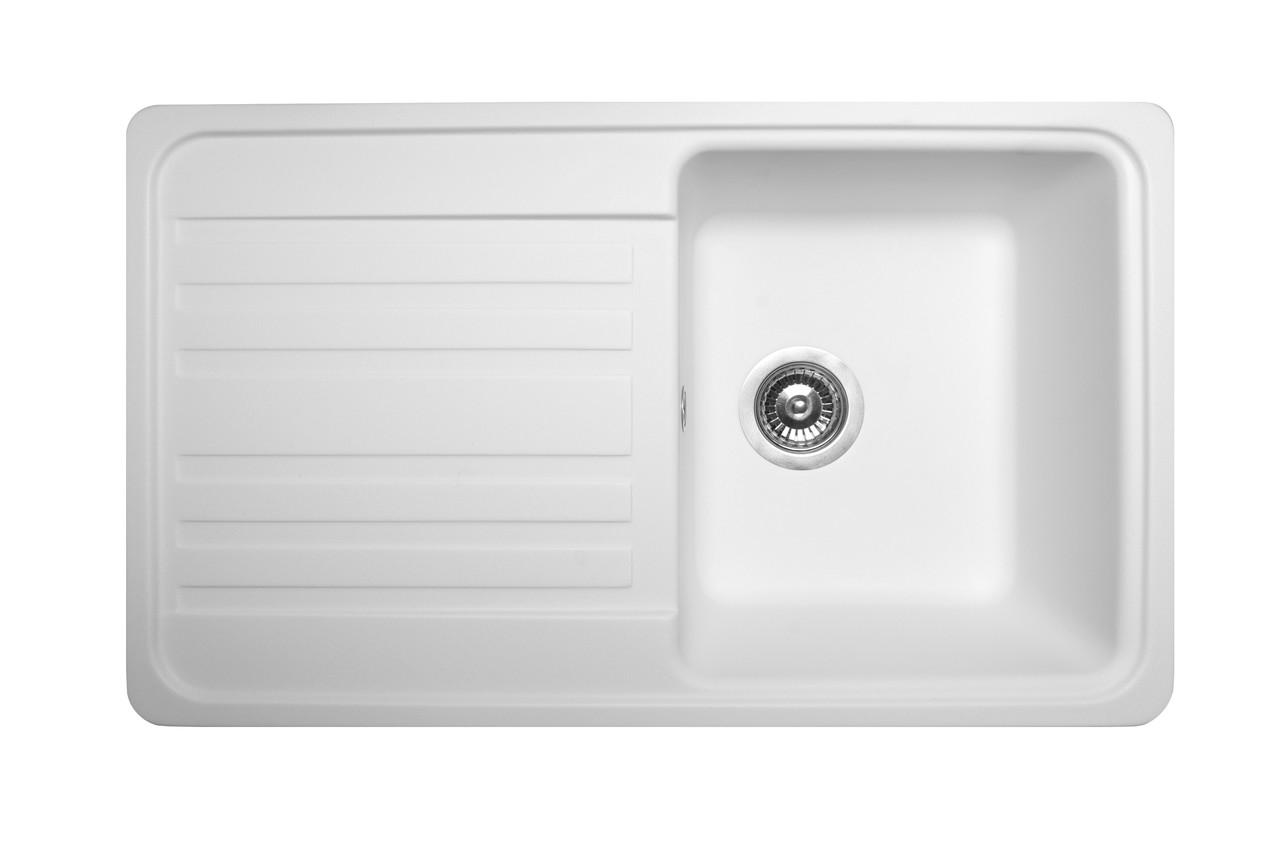 Кухонная мойка гранитная MIRAGGIO VERSAL white