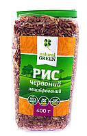 Рис красный цельнозерновой нешлифованный NATURAL GREEN 400 г