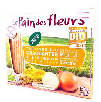Органические хлебцы с луком без глютена Le Pain des Fleurs 150 г