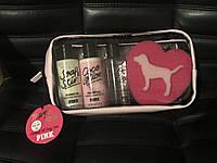 Подарочный набор по уходу за телом с кокосовым маслом Victoria s Secret (Виктория Сикрет) + косметичка LS4